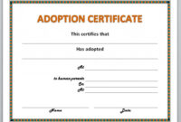 13 Free Certificate Templates For Word » Officetemplate throughout Pet Adoption Certificate Template