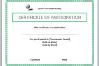 13 Free Certificate Templates For Word » Officetemplate with Golf Certificate Templates For Word