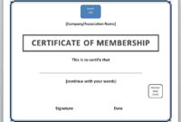 13 Free Certificate Templates For Word » Officetemplate With New Member Certificate Template