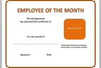13 Free Certificate Templates For Word » Officetemplate with Teacher Of The Month Certificate Template