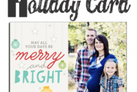 13 Free Photoshop Holiday Card Templates From Becky Higgins with Free Photoshop Christmas Card Templates For Photographers
