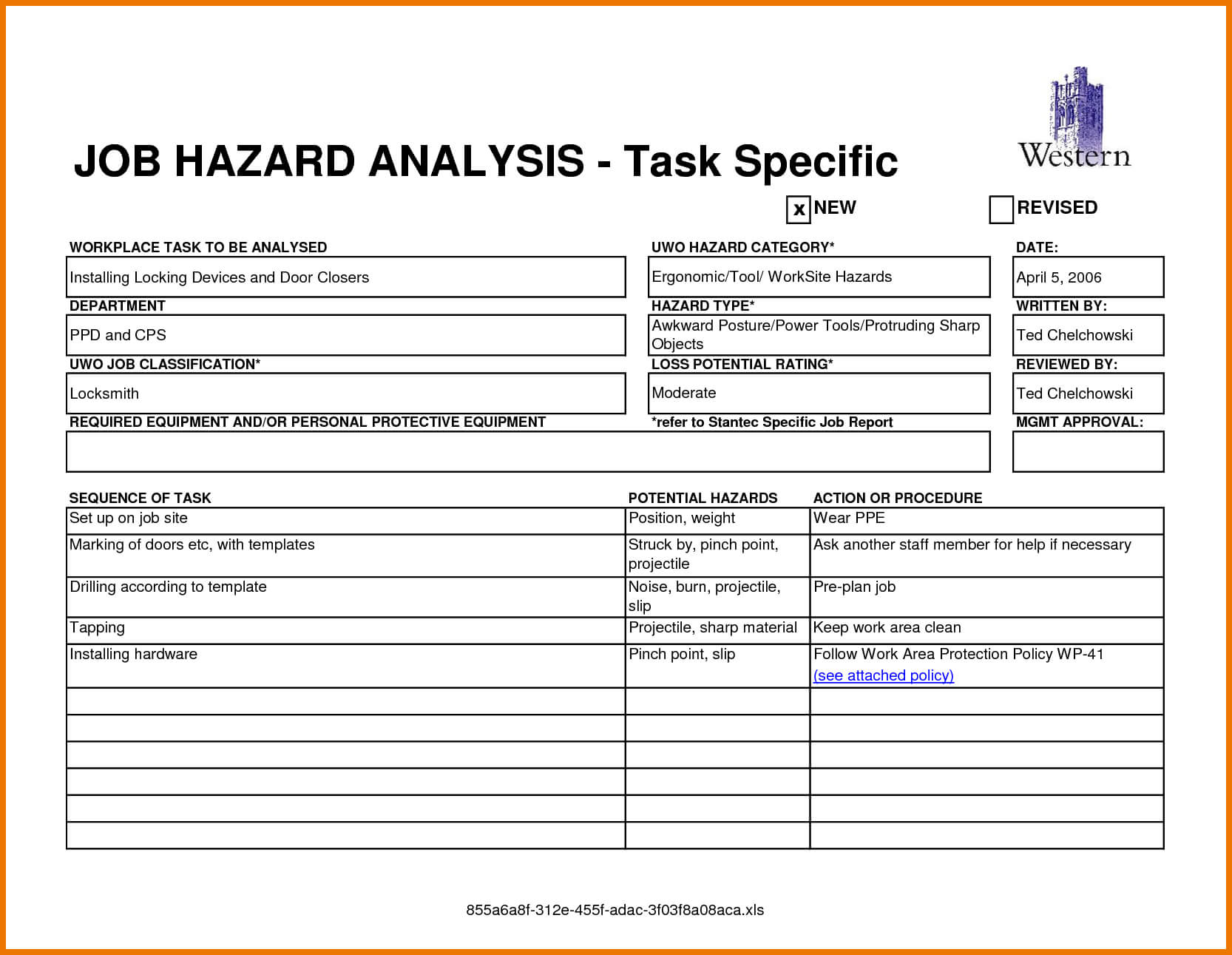 13+ Job Safety Analysis Examples - Pdf, Word, Pages | Examples Throughout Safety Analysis Report Template