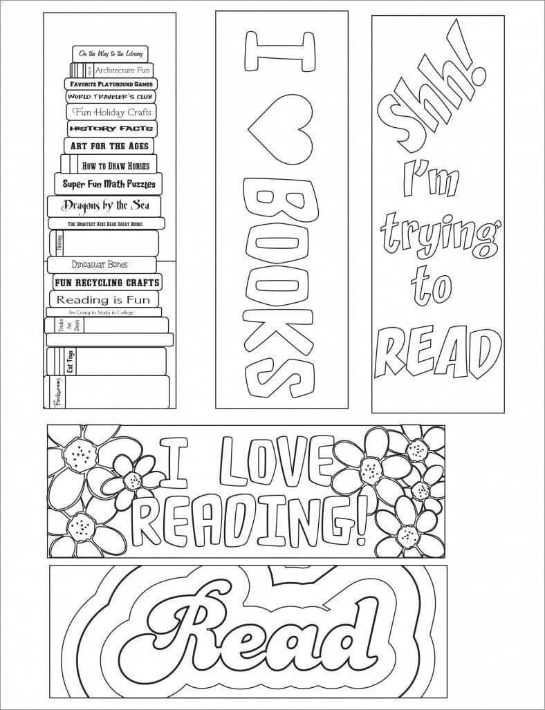 135+ Blank Bookmark Templates | Free Printable Bookmarks With Regard To Free Blank Bookmark Templates To Print