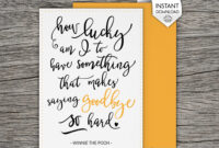 14+ Farewell Card Designs And Examples | Examples with regard to Goodbye Card Template