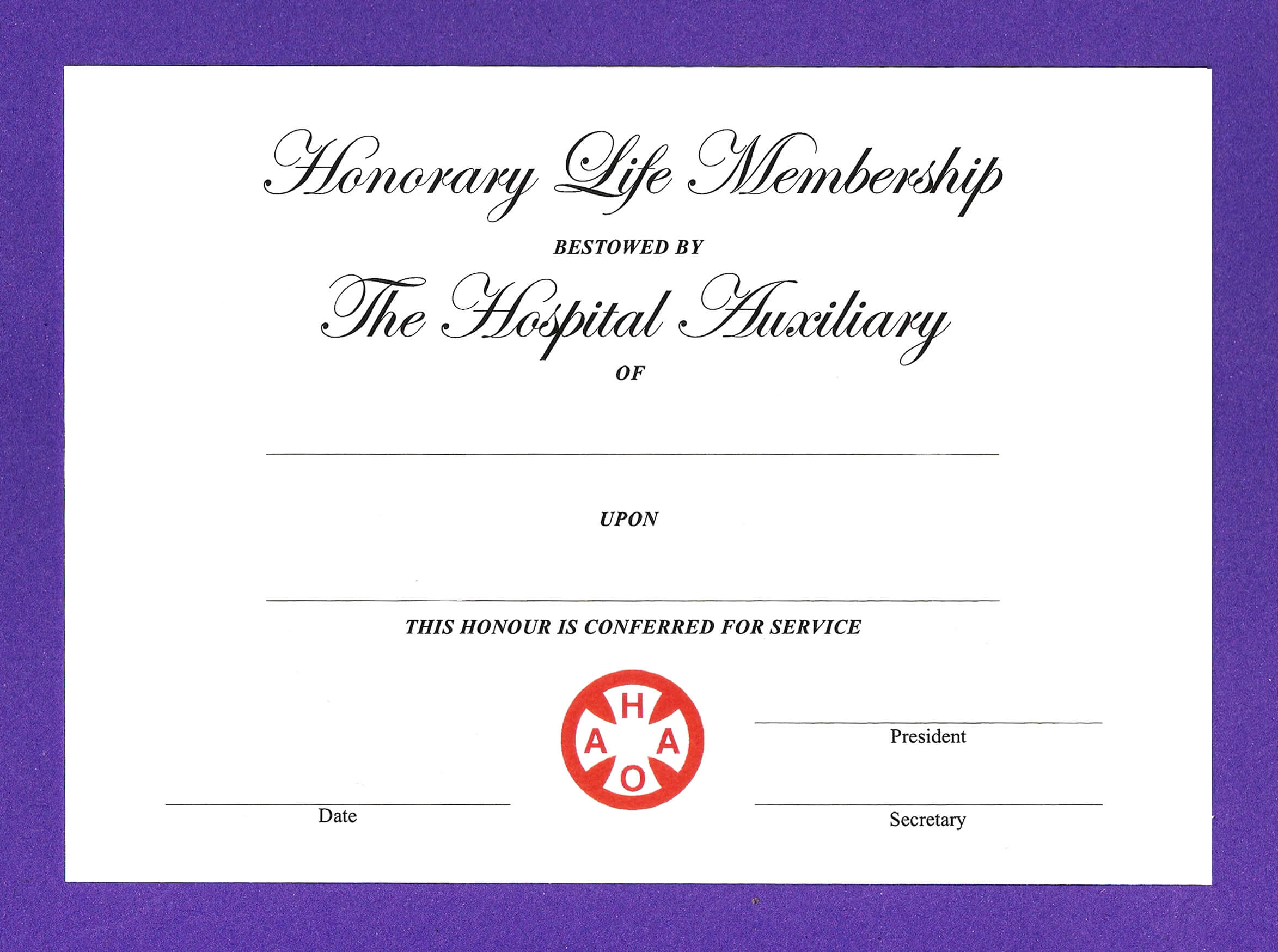 14+ Honorary Life Certificate Templates - Pdf, Docx | Free For Life Membership Certificate Templates