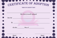 15+ Adoption Certificate Templates | Free Printable Word intended for Mock Certificate Template