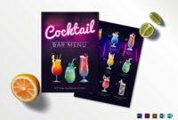 15+ Cocktail Drinks Menu Templates – Word, Psd   Free regarding Cocktail Menu Template Word Free