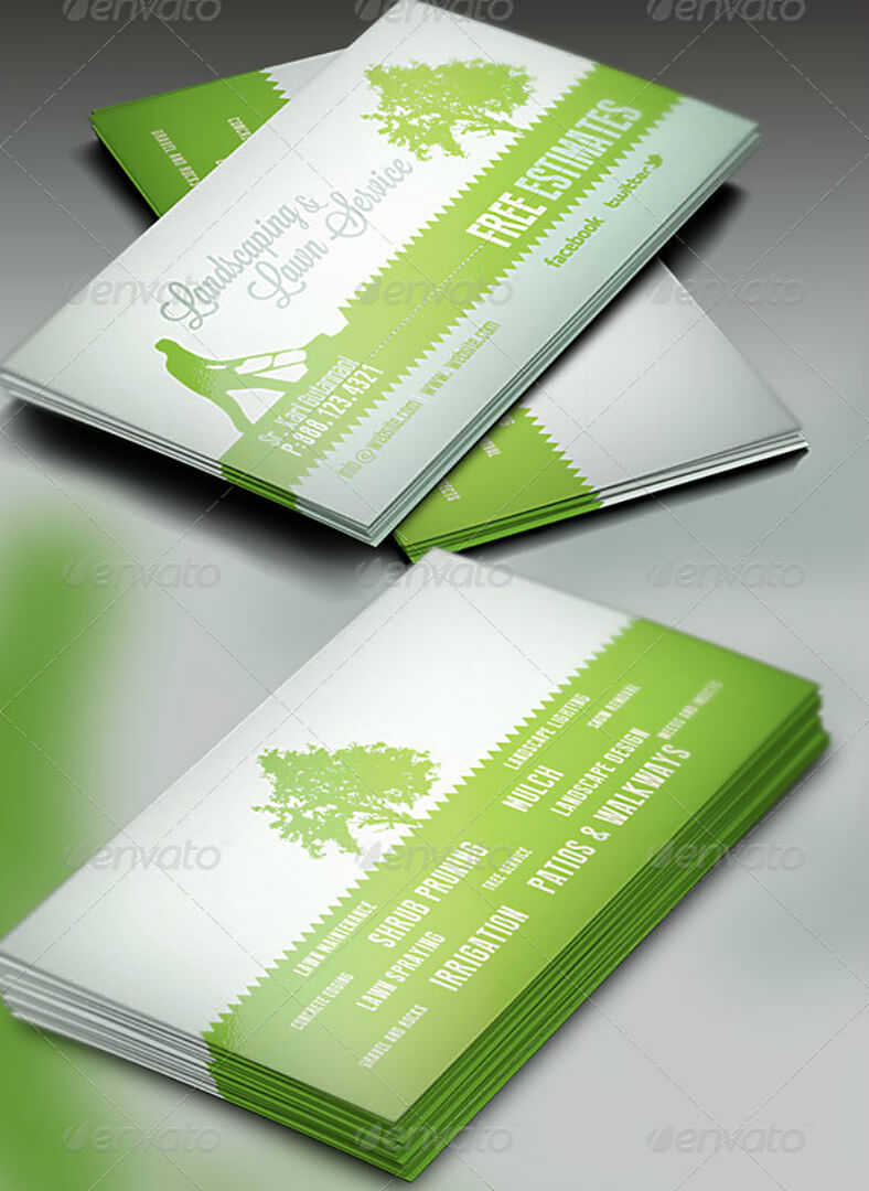 15+ Landscaping Business Card Templates - Word, Psd | Free Throughout Landscaping Business Card Template