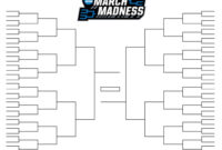 15 March Madness Brackets Designs To Print For Ncaa intended for Blank Ncaa Bracket Template