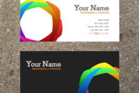 16 Business Card Templates Images – Free Business Card intended for Business Card Template Word 2010