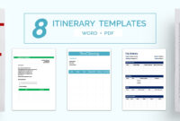 16+ Free Itinerary Templates – Travel, Wedding, Vacation inside Blank Trip Itinerary Template