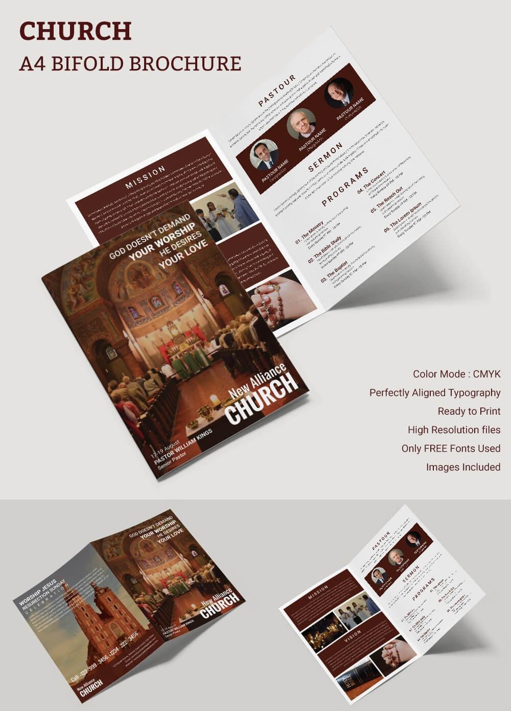 16+ Popular Church Brochure Templates – Ai,psd, Docs, Pages Within Free Church Brochure Templates For Microsoft Word