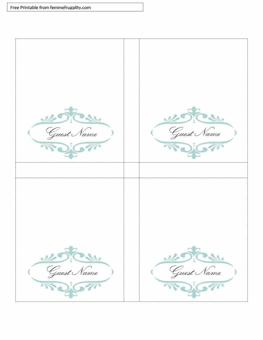 16 Printable Table Tent Templates And Cards ᐅ Template Lab With Free Tent Card Template Downloads