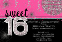 16Th Birthday Party Invitations Templates Free ] – Pics intended for Sweet 16 Banner Template