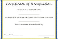 17+ Certificate Of Appreciation Sample Format | Sowtemplate inside Sample Certificate Of Recognition Template