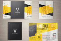 17 X 11 Gate Fold Brochure Mockup On Behance intended for Gate Fold Brochure Template