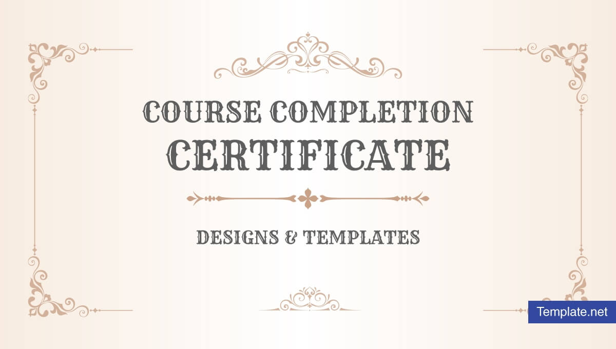 19+ Course Completion Certificate Designs & Templates – Psd Regarding Indesign Certificate Template