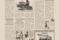 1920S Newspaper Template For Word Free regarding Old Newspaper Template Word Free