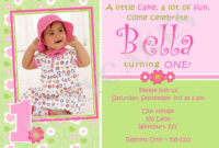 1St Birthday Invitations Girl Free Template First Birthday regarding First Birthday Invitation Card Template