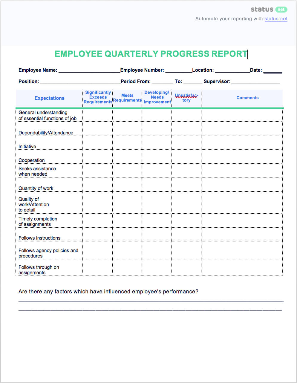 2 Easy Quarterly Progress Report Templates | Free Download Regarding Business Quarterly Report Template