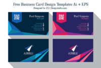 2 Free Professional Premium Vector Business Card Design within Google Search Business Card Template