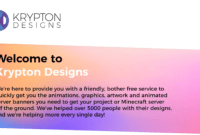 2 New Templates!] Krypton Designs || Animated Banners within Minecraft Server Banner Template