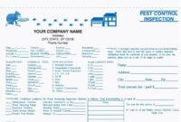 2-Part Pest Control Inspection Form, Carbonless | Pest regarding Pest Control Inspection Report Template