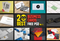 20 Best Business Cards Free Psd Vol 2 | Psddaddy with Business Card Maker Template