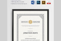 20 Best Free Microsoft Word Certificate Templates (Downloads With Indesign Certificate Template