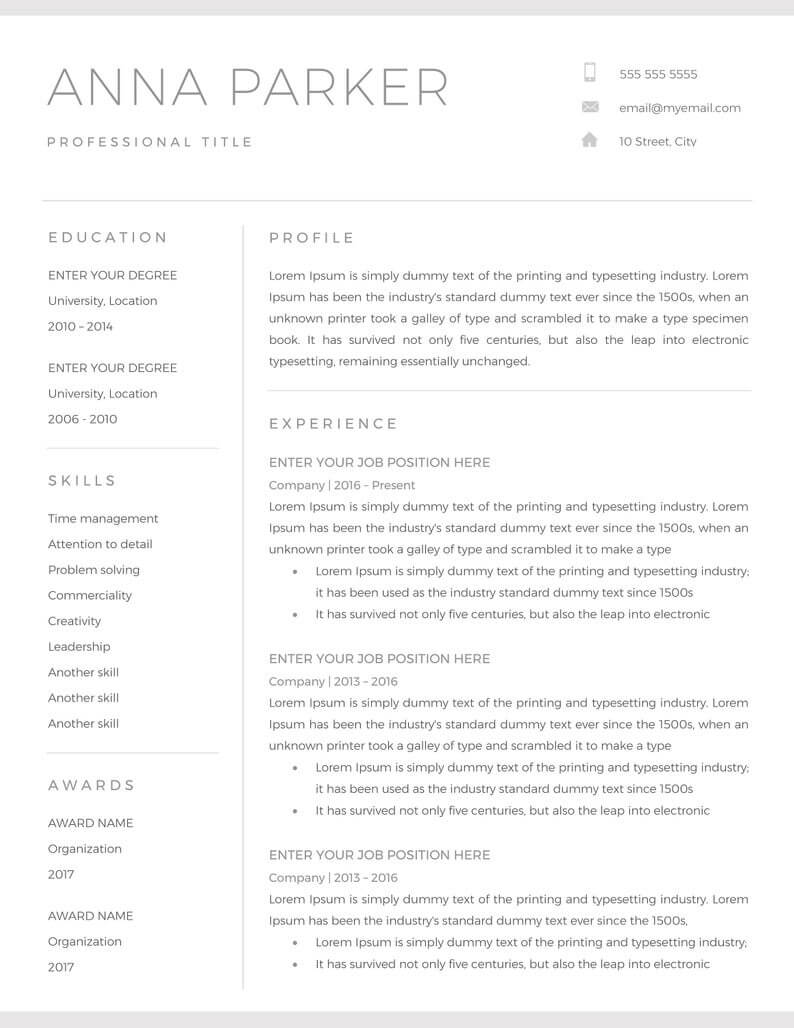 20+ Free And Premium Word Resume Templates [Download] With Regard To How To Get A Resume Template On Word