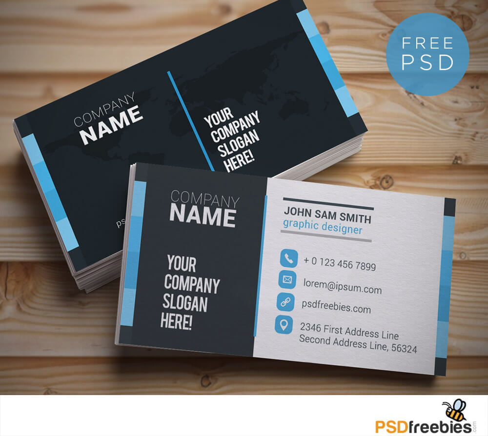 20+ Free Business Card Templates Psd - Download Psd Within Name Card Design Template Psd