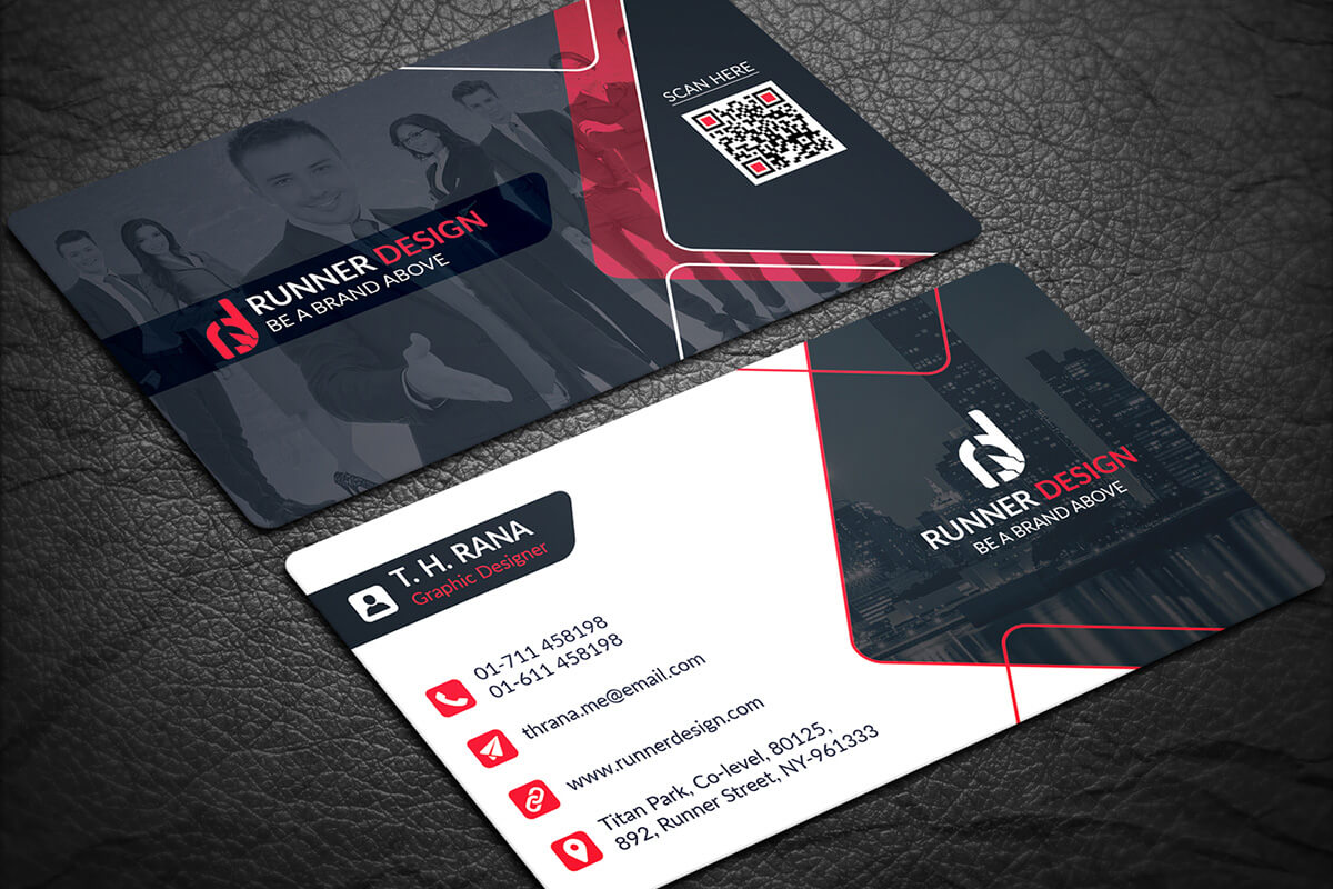 200 Free Business Cards Psd Templates - Creativetacos Throughout Visiting Card Template Psd Free Download