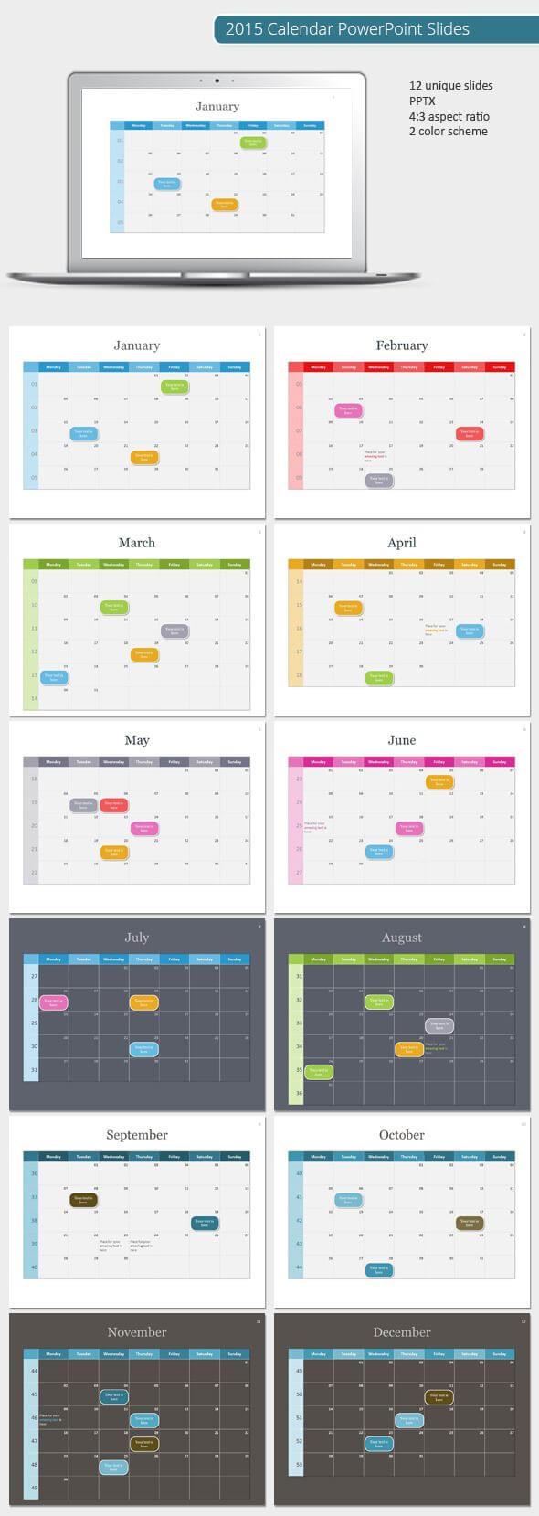 2015 Calendar Powerpoint Template (Powerpoint Templates Regarding Powerpoint Calendar Template 2015
