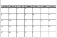 2019 Blank Calendar Templates – Helena Orstem – Medium inside Blank Calander Template