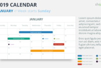 2019 Calendar Powerpoint Templates Inside Microsoft Powerpoint Calendar Template