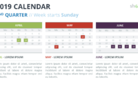 2019 Calendar Powerpoint Templates With Microsoft Powerpoint Calendar Template