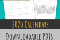 2020 Monthly Calendars + Year-At-A-Glance | Skinny Handwriting – Squidmore  & Company Stationery intended for Month At A Glance Blank Calendar Template