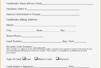 21+ Credit Card Authorization Form Template Pdf Fillable 2019!! in Corporate Credit Card Agreement Template