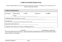 21+ Credit Card Authorization Form Template Pdf Fillable 2019!! regarding Corporate Credit Card Agreement Template