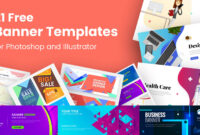 21 Free Banner Templates For Photoshop And Illustrator inside Banner Template For Photoshop