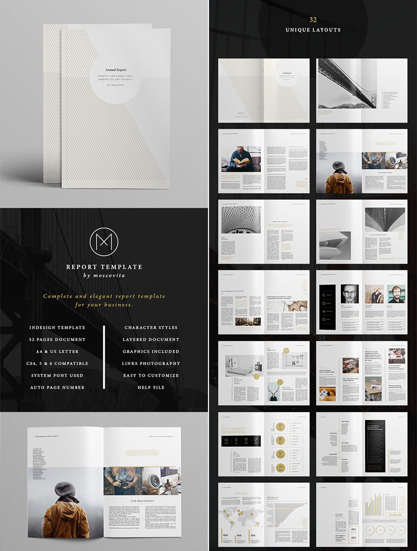 25+ Best Annual Report Templates - With Creative Indesign Inside Ind Annual Report Template