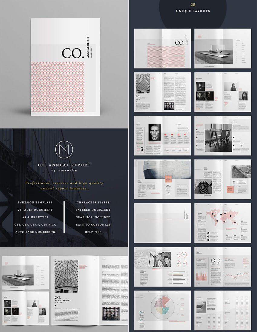 25+ Best Annual Report Templates - With Creative Indesign Pertaining To Free Indesign Report Templates