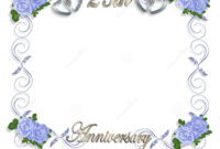 25Th Anniversary Template Stock Illustration. Illustration with Template For Anniversary Card