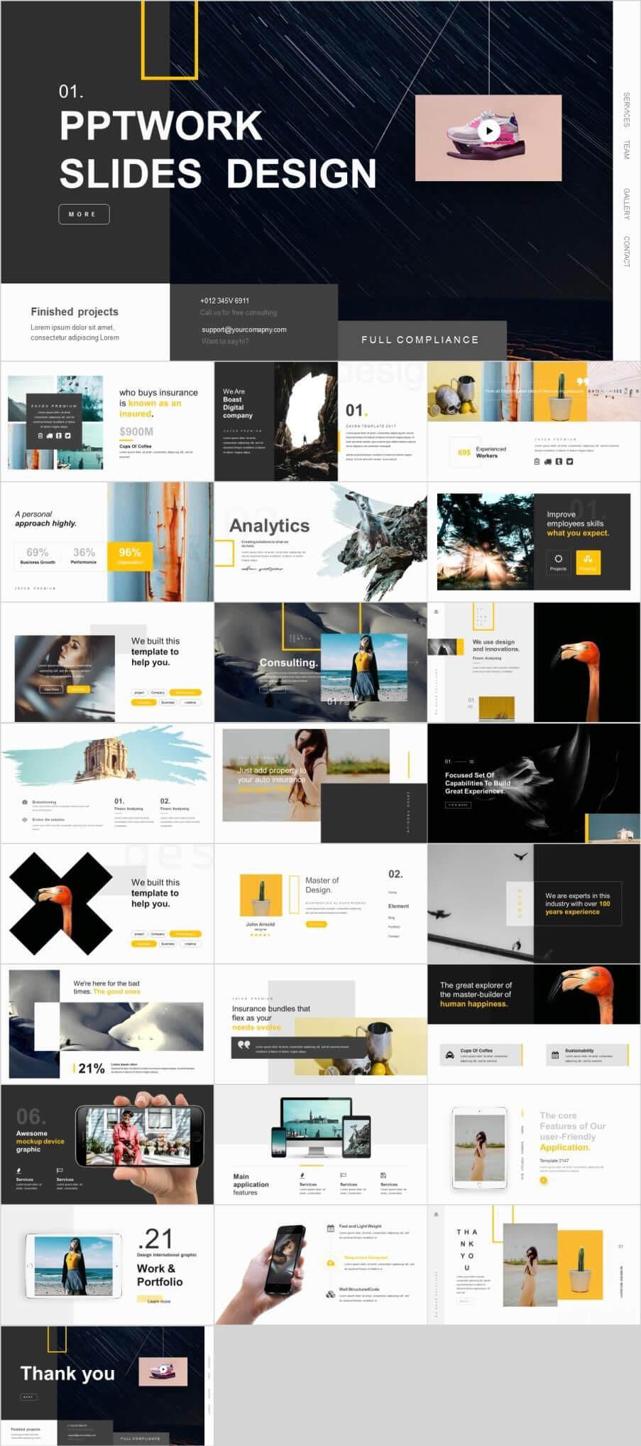 26+ Marketing Analysis Design Powerpoint Template | Business Pertaining To Powerpoint Photo Slideshow Template