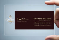26+ Transparent Business Card Templates – Illustrator, Ms in Coffee Business Card Template Free