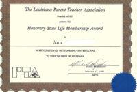 27 Images Of Adult Education Certificate Template | Masorler regarding Life Membership Certificate Templates