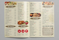 27 Restaurant Menu Templates With Creative Designs throughout Free Cafe Menu Templates For Word