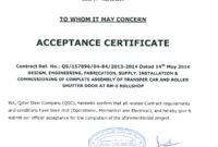 28+ [ Acceptance Certificate Template ] | Acceptance in Certificate Of Acceptance Template