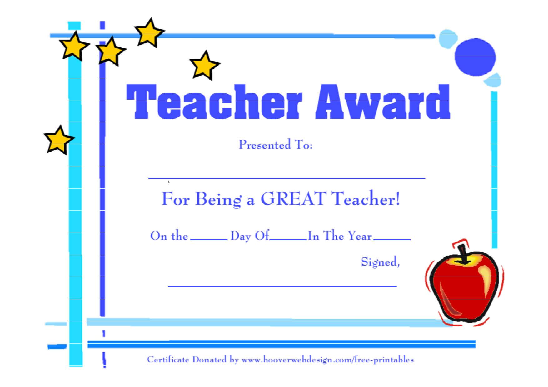 28+ [ Best Teacher Certificate Templates Free ]   5 Best Inside Best Teacher Certificate Templates Free