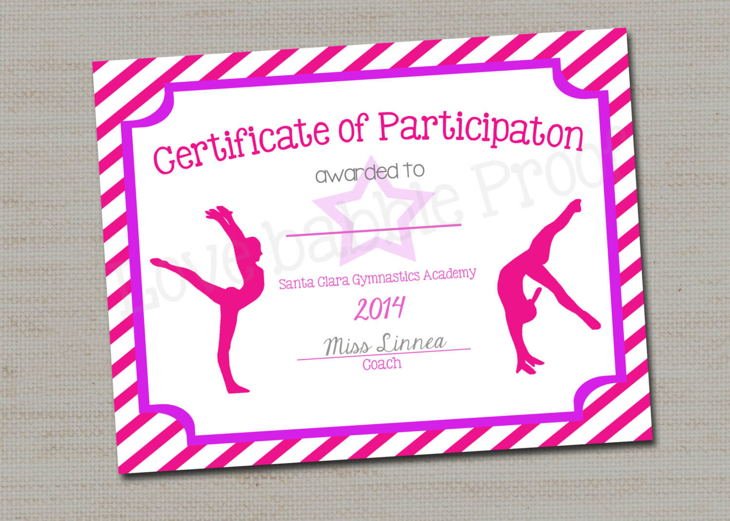 28+ [ Dance Certificate Templates ] | Free Ballet Intended For Gymnastics Certificate Template